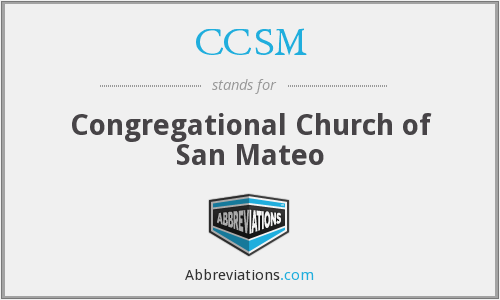 What does CCSM stand for?