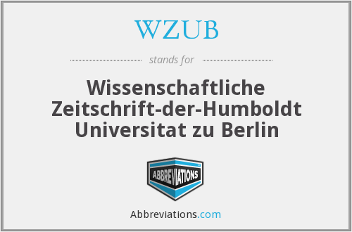 What does WZUB stand for?