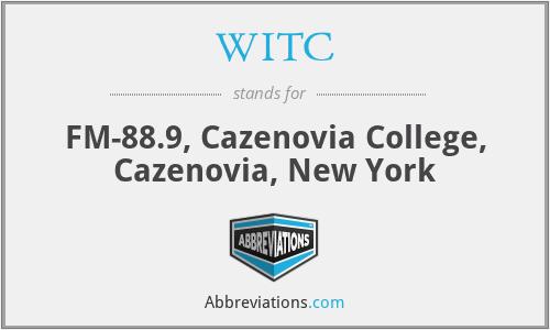 WITC - FM-88.9, Cazenovia College, Cazenovia, New York