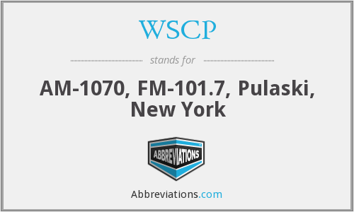 WSCP - AM-1070, FM-101.7, Pulaski, New York
