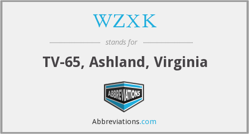 WZXK - TV-65, Ashland, Virginia