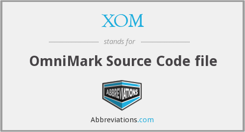 XOM - OmniMark Source Code file