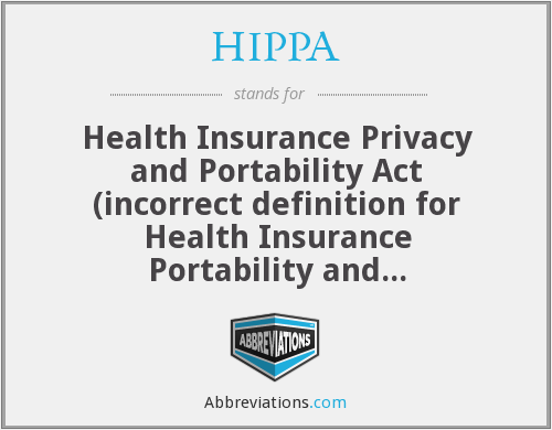 What does HIPPA stand for?
