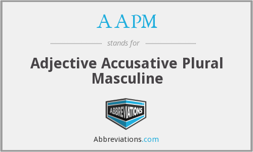 What does masculine stand for?