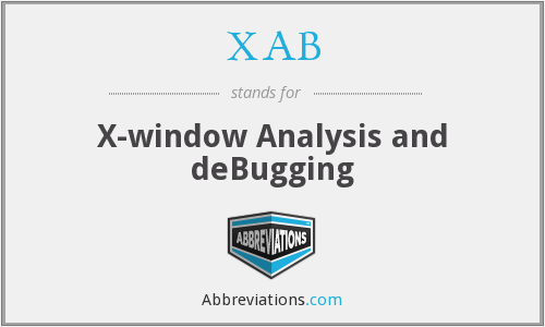 XAB - X-window Analysis and deBugging