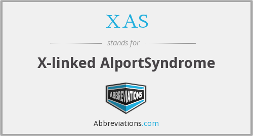 XAS - X-linked AlportSyndrome