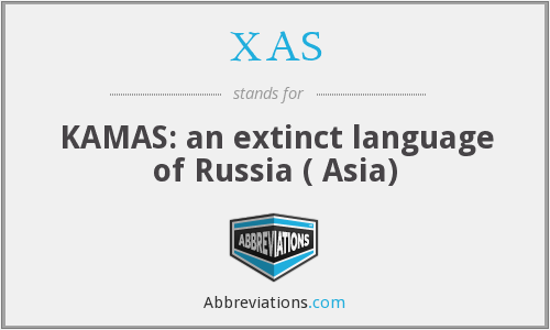 XAS - KAMAS: an extinct language of Russia ( Asia)
