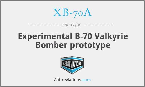 XB-70A - Experimental B-70 Valkyrie Bomber prototype