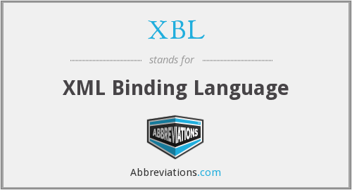 XBL - XML Binding Language