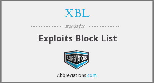 XBL - Exploits Block List