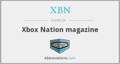 What does XBN stand for?