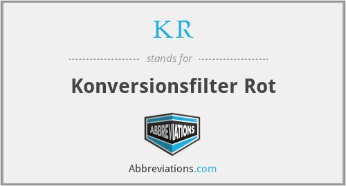 KR - Konversionsfilter Rot