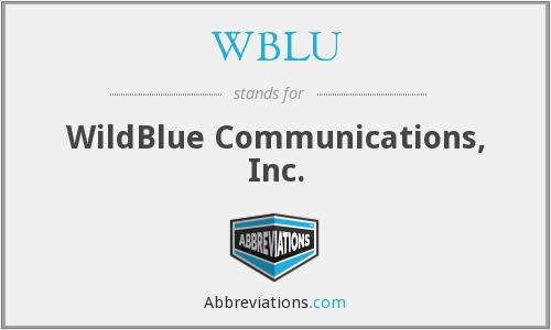 What does WBLU stand for?