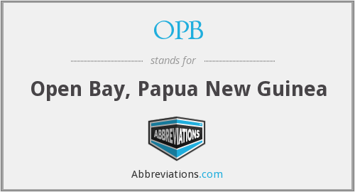 OPB - Open Bay, Papua New Guinea