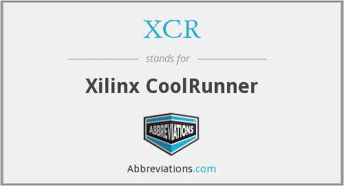 What does XCR stand for?