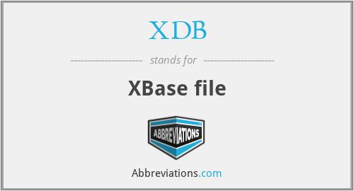 XDB - XBase file