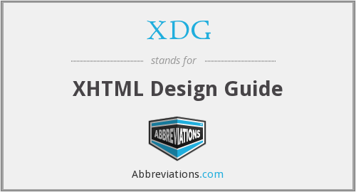What does XDG stand for?