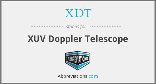 What does XDT stand for?
