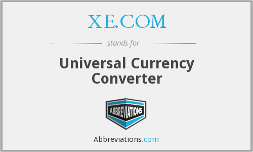 XE.COM - Universal Currency Converter
