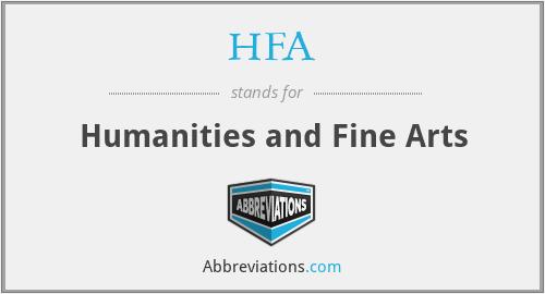 HFA - Humanities and Fine Arts