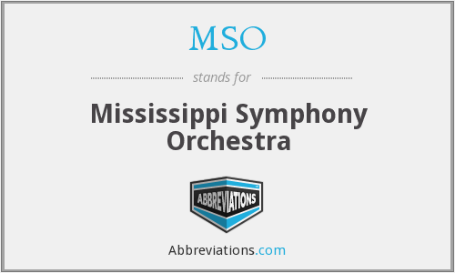 MSO - Mississippi Symphony Orchestra