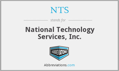 NTS - National Technology Services, Inc.