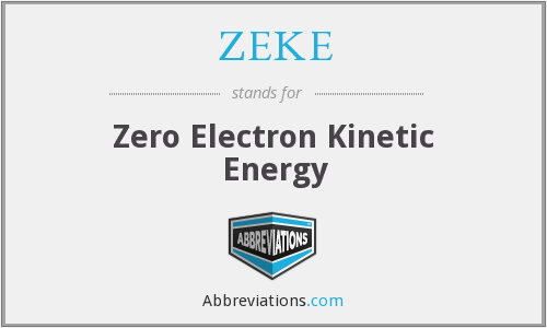 ZEKE - Zero Electron Kinetic Energy