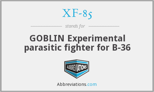 XF-85 - GOBLIN Experimental parasitic fighter for B-36