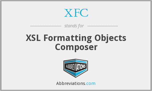 XFC - XSL Formatting Objects Composer