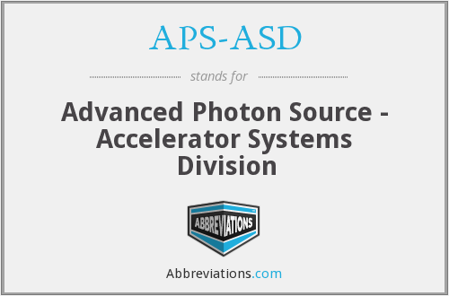What does APS-ASD stand for?