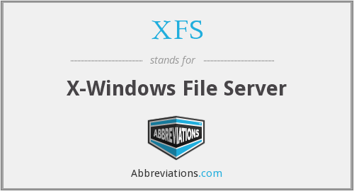 XFS - X-Windows File Server