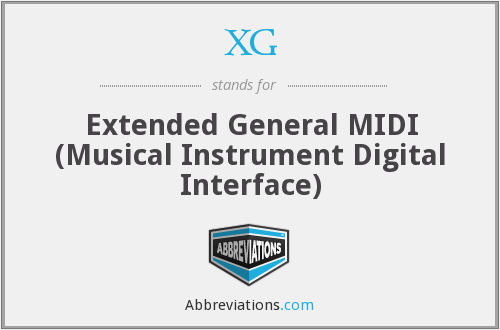 XG - Extended General MIDI (Musical Instrument Digital Interface)