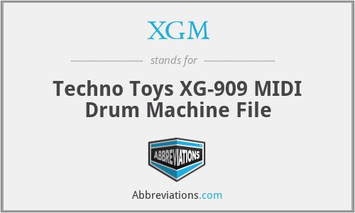 XGM - Techno Toys XG-909 MIDI Drum Machine File