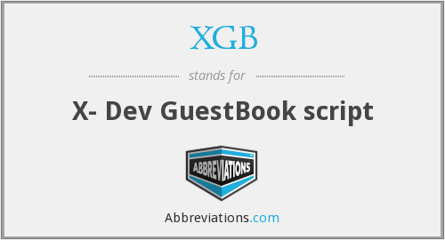 What does XGB stand for?