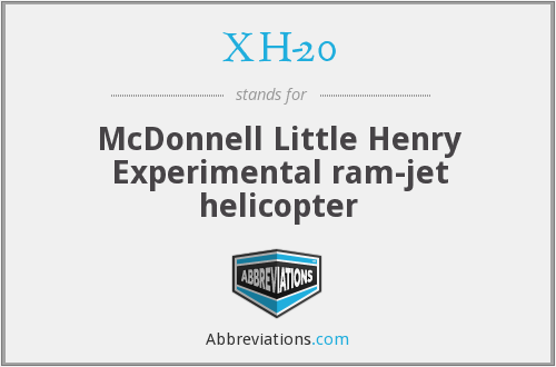 XH-20 - McDonnell Little Henry Experimental ram-jet helicopter