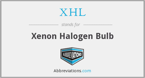 XHL - Xenon Halogen Bulb