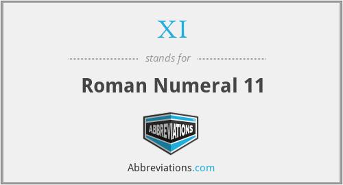 XI - Roman Numeral 11
