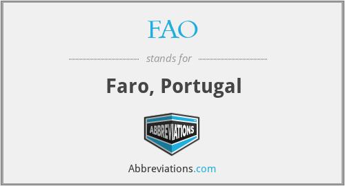 FAO - Faro, Portugal