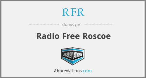 What does RFR stand for?
