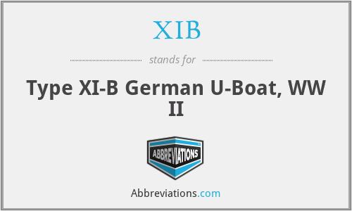 XIB - Type XI-B German U-Boat, WW II