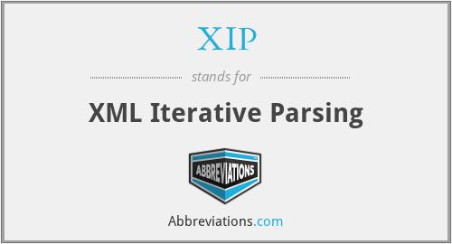 XIP - XML Iterative Parsing