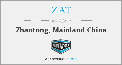 ZAT - Zhaotong, Mainland China