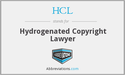 HCL - Hydrogenated Copyright Lawyer