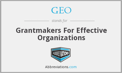 GEO - Grantmakers For Effective Organizations