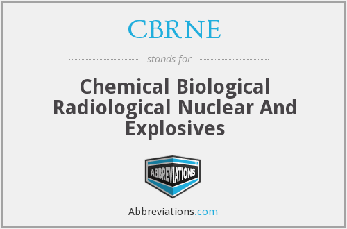 CBRNE - Chemical Biological Radiological Nuclear And Explosives