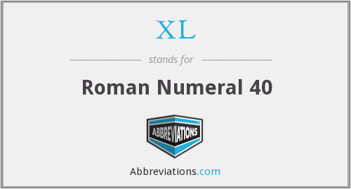 XL - Roman Numeral 40