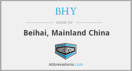 What does BHY stand for?