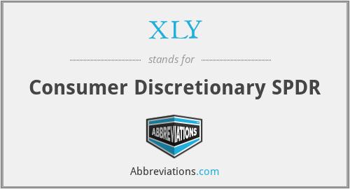 XLY - Consumer Discretionary SPDR
