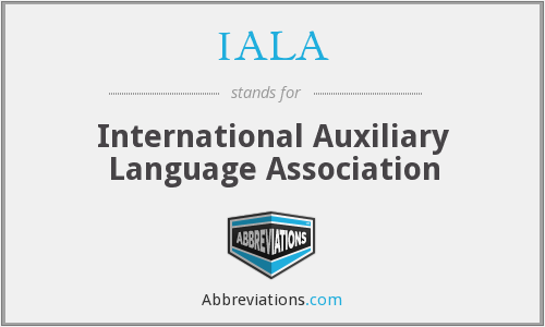 IALA - International Auxiliary Language Association