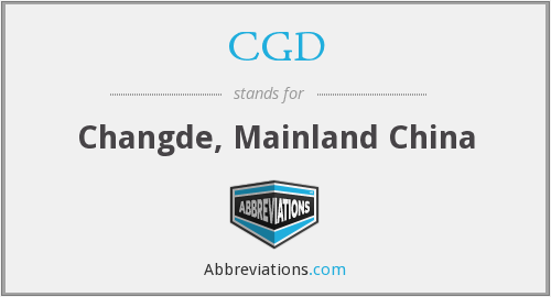 What does changde stand for?